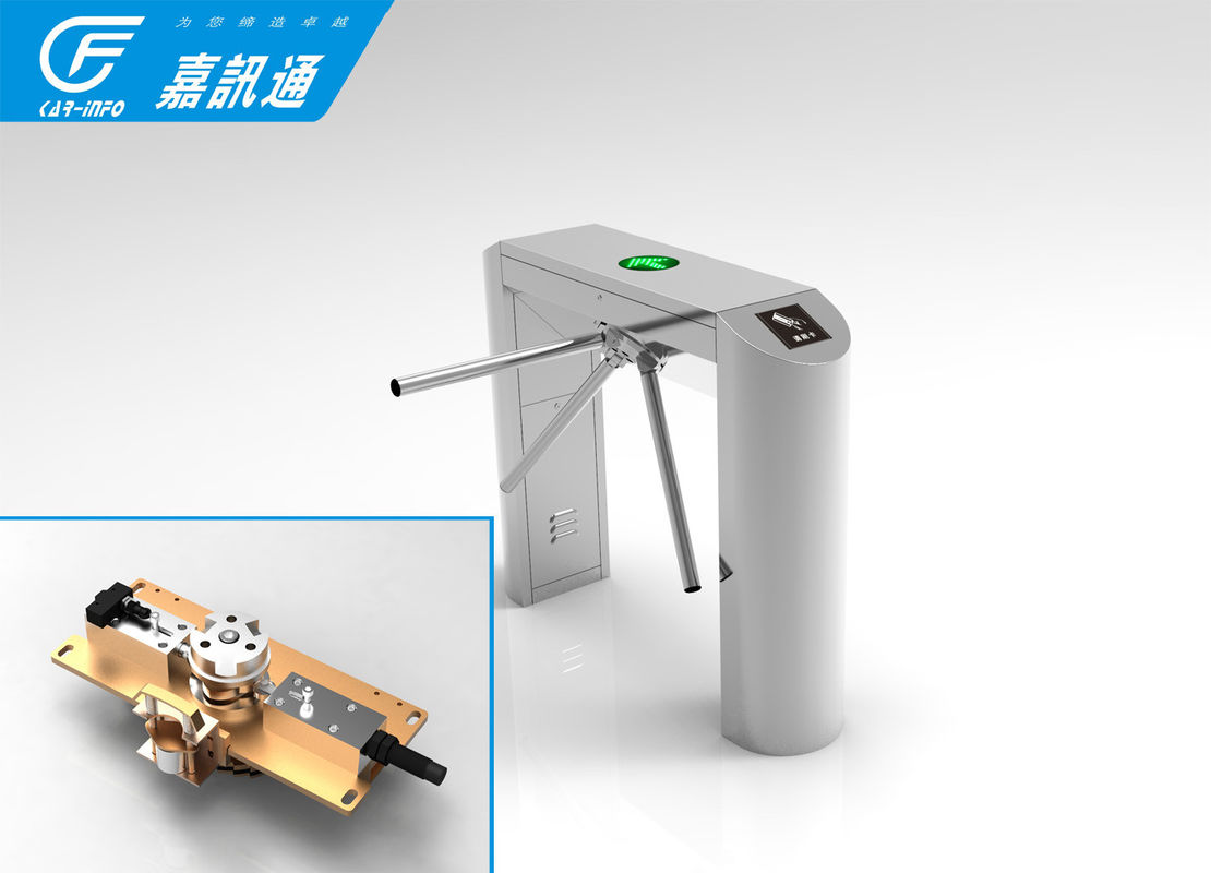 Rfid Access Control Vertical Tripod Turnstile 304 Stainless Steel Channel Width 550 -- 600mm
